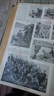 Antique Fishing photos Melbourne v Geelong Bream match Rods reels 1897
