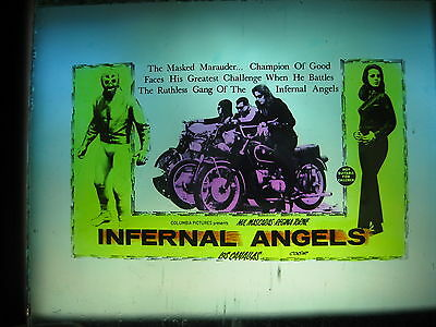 INFERNAL ANGELS / LOS CANALLAS '68 Australian cinema movie projector glass slide