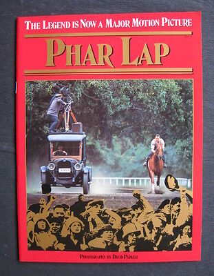 PHAR LAP 1983 Official movie book Tom Burlinson Judy Morris Melbourne Cup horse