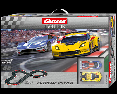 Carrera Evo Set - Extreme Power 6.3m Slot Car Set