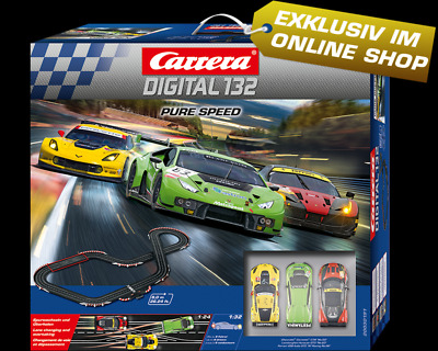 Carrera Digital 132-Pure Speed Set 8m 3 car set