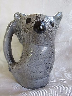 Rare Merric Boyd Koala Blue Jug Original Sticker on Base Australian Pottery