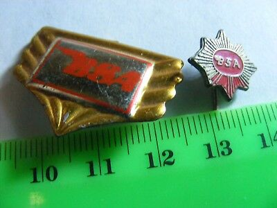 BSA  motorcycle Lot of 2 very old  tinplate/later badges.