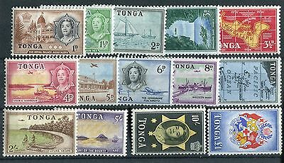 Tonga QEII 1953 set of 14 SG101/14 mounted mint