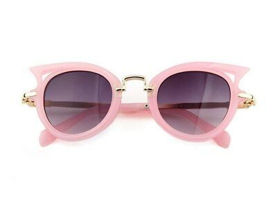 Girls Kids Fashion Sunglasses - Light Pink Cat Eye