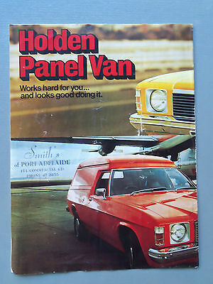 Genuine Gmh Holden Hj Panel Van 1974 Sales Brochure Good Condition For Age
