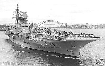 Royal Navy Aircraft Carrier Hms Victorious At Sydney