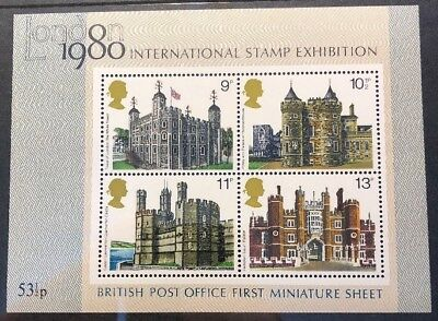 GB London 1980 International Stamp Exhibition First Miniature Sheet MNH.