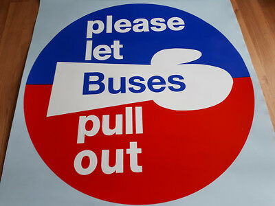 /'Please Let Buses pull out/' circular sticker Decal Vinyl for Bus Coach SALE!