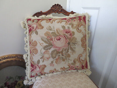 Aubusson needlepoint tapestry cushion