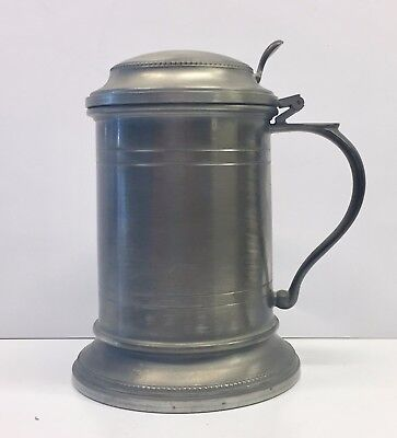 Vintage PEWTER Tankard or Lidded Stein - 12 oz - NEVER USED
