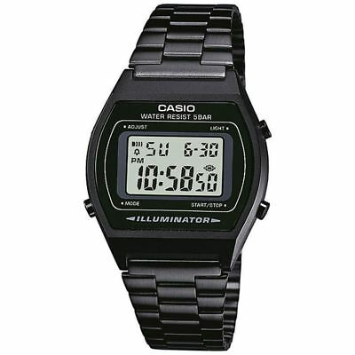 Casio Unisex Black Retro B640WB-1AEF Classic Digital Watch Stainless Steel New