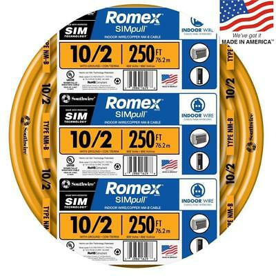 Southwire 28829055 Romex SIMpull 250-Ft 10/2 Non-Metallic Wire (By-The-Roll) NEW