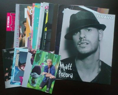Matt M. Pokora - posters articles clippings lot collection