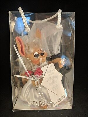 "Annalee 7"" Wedding MIce Macy's Exclusive - BLOND Hair Mouse Bride  - #974802"