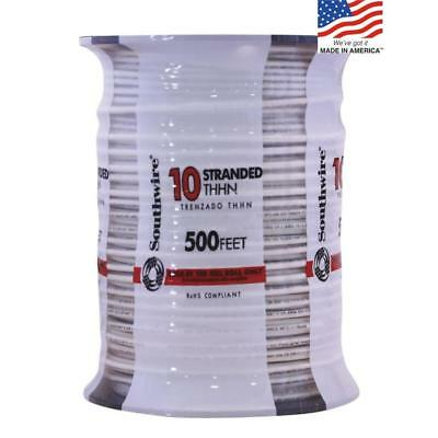 SOUTHWIRE 500-FT 10-AWG THHN Stranded White Cable Conductor ...