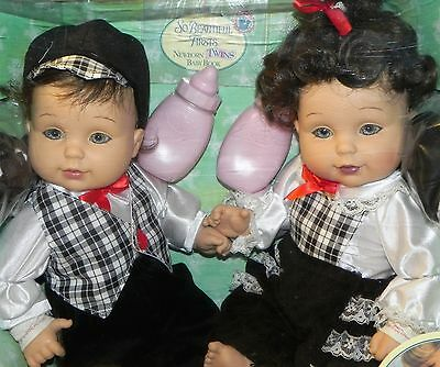 Baby So Beautiful Boy and Girl Brunette Twins Playmate NRFB