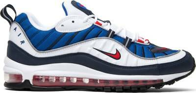 sports shoes be88d 71b6d Nike Air Max 98 Gundam WHITE UNIVERSITY RED-OBSIDIAN 640744-100 Authentic