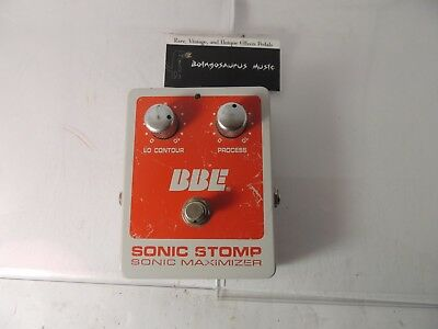 Bbe Sonic Stomp Effects Pedal Sonic Maximizer Aural Exciter Free Shipping