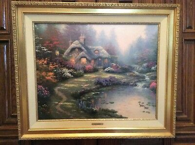 """Thomas Kinkade G/P Canvas Gallery Signed Lithograph Everett's Cottage 24' x 30"""""""