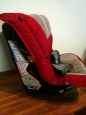 orbit baby ruby red toddler car seat with side brackets and FREE shipping