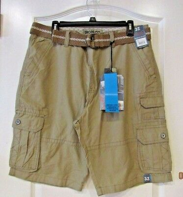 468c75888e IRON CO Belted Ripstop 7-pocket Cargo Shorts BUCKWHEAT Men's Sz 32. NWT MSRP