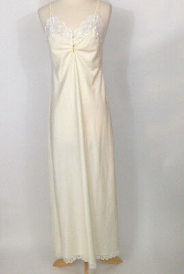Claire Sandra Lucie Ann Of Beverly Hills Womens Silk Night Gown Size 34 Vintage