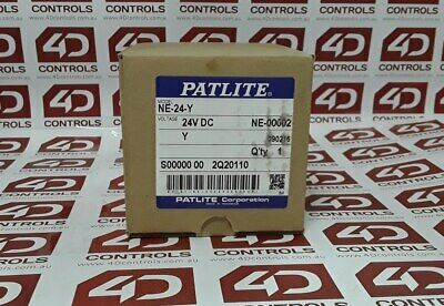 Patlite NE-24-Y LED Yellow Beacon - New Surplus Open