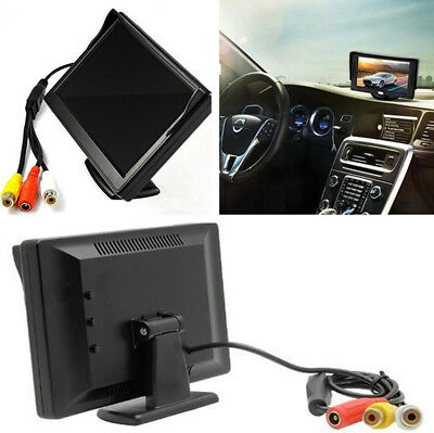 "5"" Car TFT LCD Digital Color Rear View Monitor Display PAL and NTSC Video System"