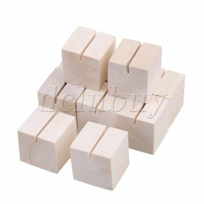 10pieces Pine Wood Sticky Holder Postcard Photo Clips for Home Party