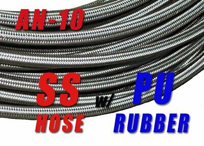 AN10 Stainless Steel Braided Fuel Oil Gas Line Hose 10AN for Swivel Fitting 10FT