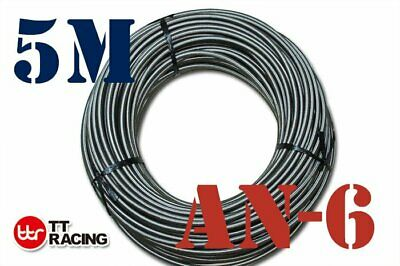 "An6 6An An -6 (8.3Mm / 3/8"" Id) Stainless Steel Braided Fuel Oil Water Hose 5M"