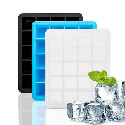 20-Lattice Large Ice Jelly Maker Square Mould Ice Cube Mold Cube Tray Silicone