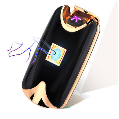 Electric USB Rechargeable Double Arc 4 Cross Plasma Windproof Flameless Lighter