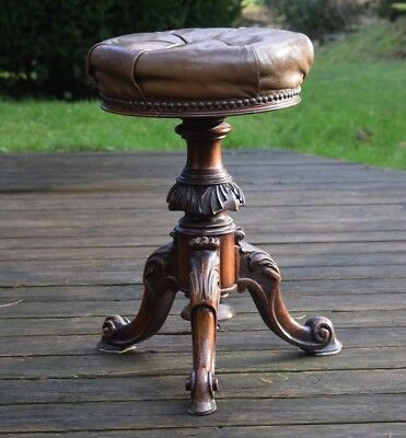 Antique,Piano stool,leather stool,antique stool,small stool,three legged stool,