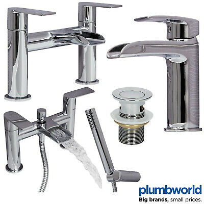 Bathroom Modern Waterfall Tap Sets Mono Basin Mixer Bath Filler Shower Mixer