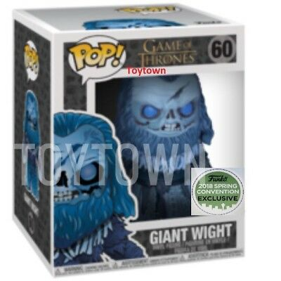 ECCC 2018 Shared Exclusive Funko Pop Game Of Thrones Undead Giant Wight Presale