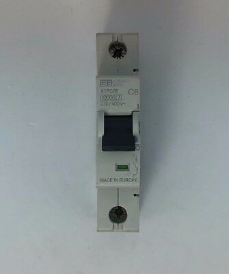 Dorman Smith X1PC306 6 Amp 6a MCB 10kA Type C C6 Single Pole Breaker