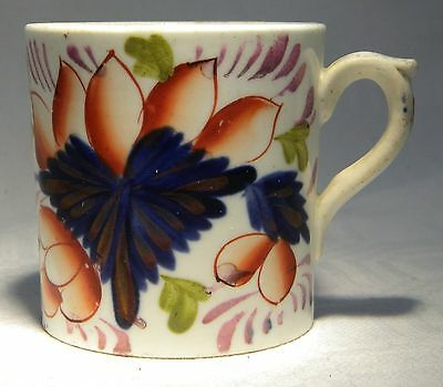 Victorian Gaudy Welsh Copper Lustre  Coffe Can Grape