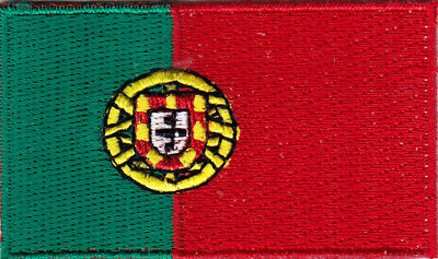PORTUGAL FLAG, Iron On Embroidered Patch - FLAG OF PORTUGAL