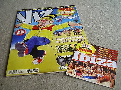 Viz #117 August 2002 WITH FREE GIFT Guide to Ibiza booklet