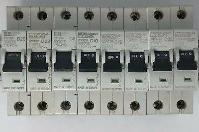 Dorman Smith X1P Single Pole MCB 10A 16A 20A 32A 40A 50A 63A Amp Type B C 10kA