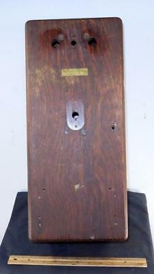 Antique Western Electric Wood Oak Wall Telephone Box Only For Parts or Repair