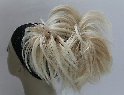 Claw Clip Ponytail Synthetic Hairpiece Extensions Bun Scrunchie Straight short