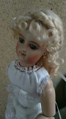 Ash blonde French Fashion doll mohair wig Size 6