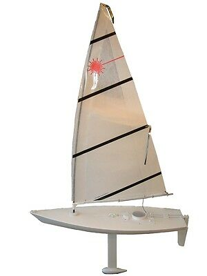 """Radio Controlled Laser 42"""" Sailboat - Ready to sail with Waterproof Servos"""