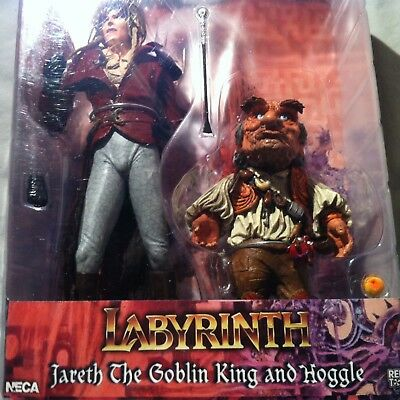 David Bowie - Jareth The Goblin King & Hoggle Labyrinth Rare Neca Cult Classics