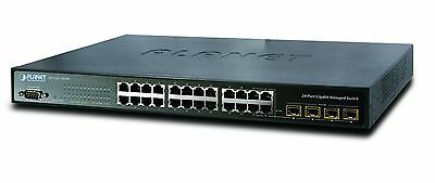 PLANET SWICH WGSW-24040  24-Port 10/100/1000Mbps with 4 Shared SFP Manajed swich