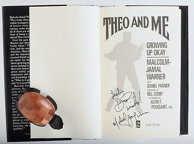 SIGNED Malcolm-Jamal Warner, Theo and Me, hardcover first edition, Cosby Show