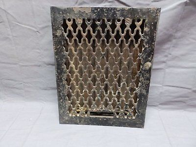 Antique Cast Iron Floor Heat Grate 14x11 Register Vent Industrial Vtg 318-18P